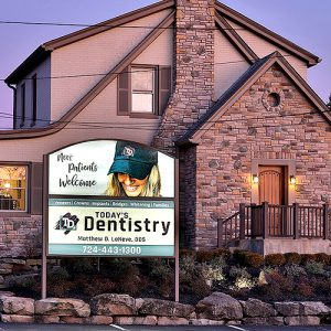 Today's Dentistry Gibsonia - Front of Building Sign